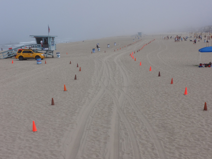 foggy-hermosa-beach-cones