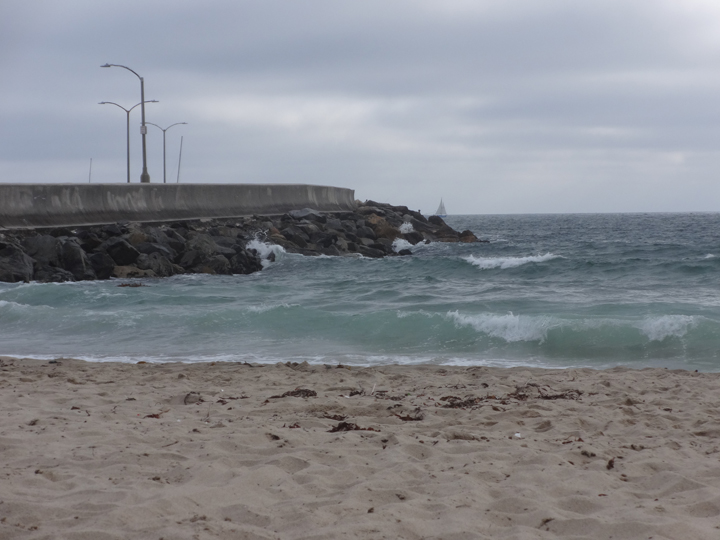 redondo-breakwater-sailboat-cloudy