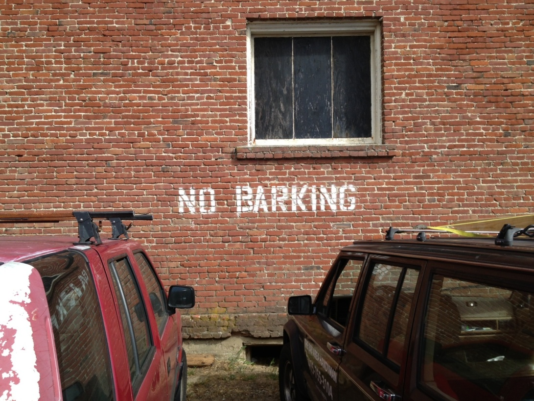 No parking/barking -- Marin