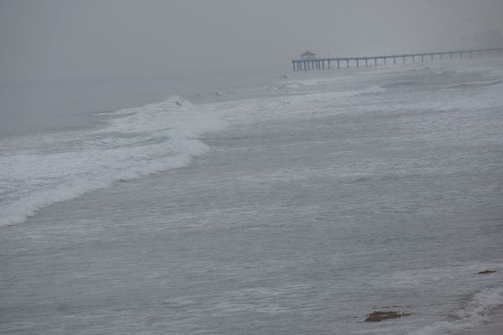 Gray morning -- looking toward MBHermosa