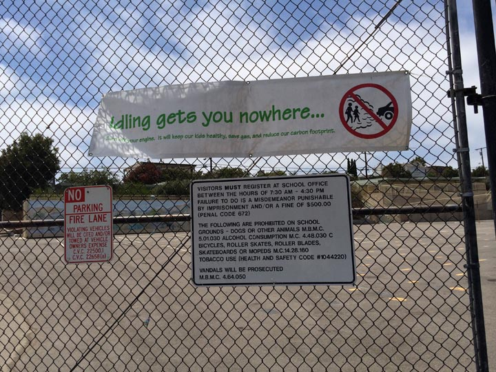Idling gets you nowhere sign in Manhattan Beach