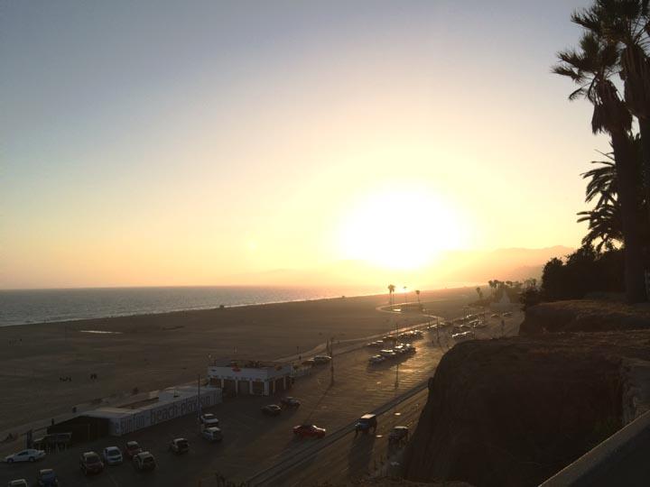 Santa Monica sunset,  so welcoming