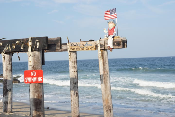 Down the shore everything's alright sign in Ocean Grove, N.J.