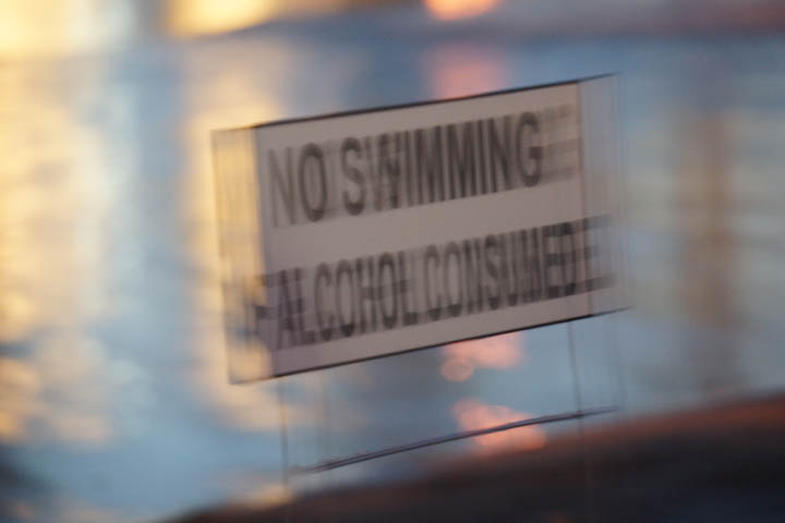 No swimming if alcohol consumed at Seaside Lagoon in Redondo Beach