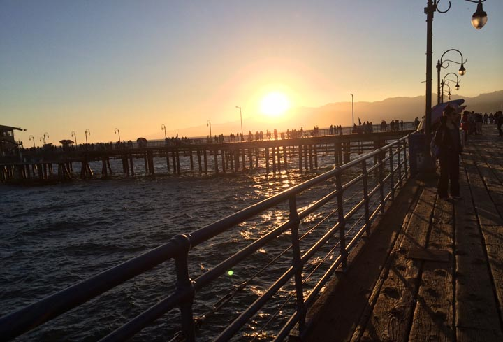 santa-monica-pier-near-sunset