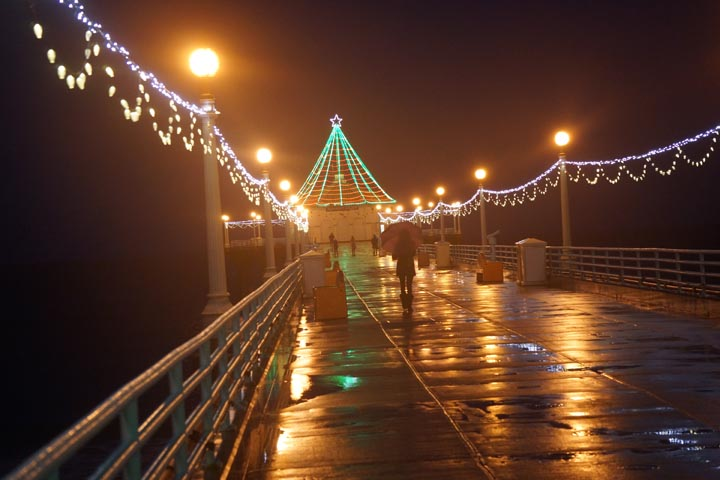 pier-tree-rainy-night-manhattan-beach