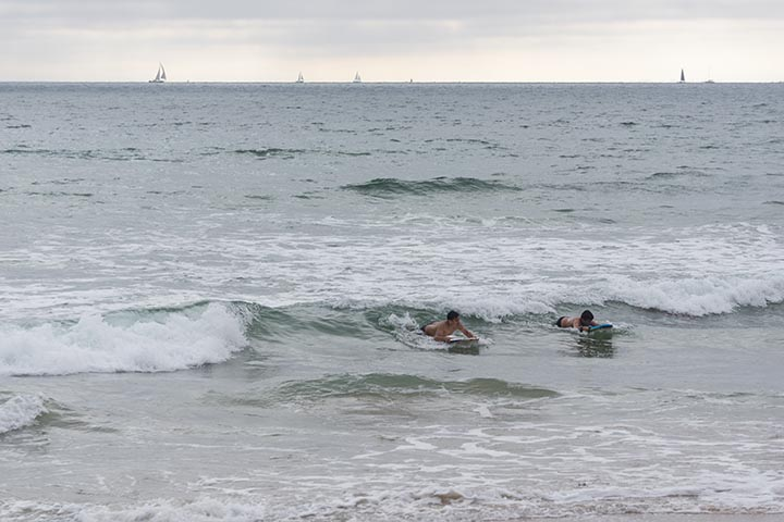 sailboats-body-boarders-el-porto-june-sunday