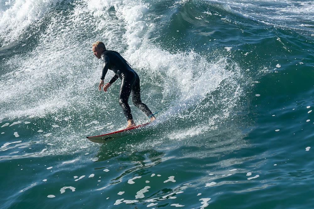 Hermosa surfer March morning